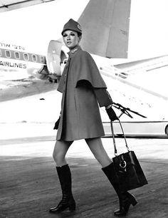 El Al Israel Airlines stewardess, 1960's.