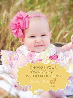 Baby Bow, Sandwich Boutique Baby Headband Bow, ANY color YOU choose, Baby Headband, Bow via Etsy