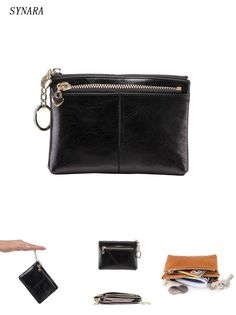 21fcbbe9cb048  Visit to Buy  Vintage style women Genuine Leather Coin Purse Small men s  Real Leather