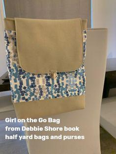 From Debbie Shore book 'half yard bags and purses' Debbie Shore, Go Bags, New Beginnings, Bag Making, Messenger Bag, Satchel, Yard, Purses, Sewing