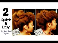 Naturally Michy | D: Desiree & E: Ebony | 2 Quick & Easy Protective Styles for Natural Hair - YouTube