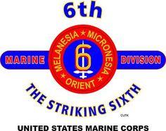 "6th Marine Division "" The Striking Sixth"" United States Marine Corps"