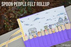 Felt Kids Craft Idea: Spoon People Rollup Village