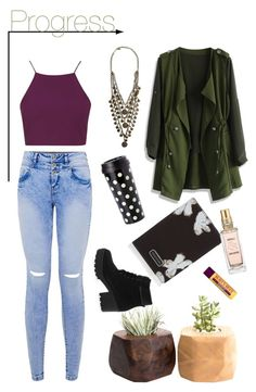 """""""Y E S"""" by buborekk ❤ liked on Polyvore featuring Topshop, Ettika, Chicwish, Kate Spade, Marc by Marc Jacobs, L'Occitane and Burt's Bees"""