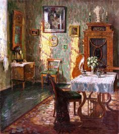 ◇ Artful Interiors ◇ paintings of beautiful rooms - August Von Brandis (1859-1947)