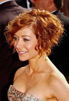 16.Short Curly Hair 2015