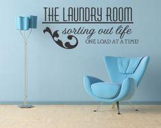 diy laundry vinyl wall  | Laundry Room Vinyl Wall Quote Decal Sticker Art Decor Art Decor Wall