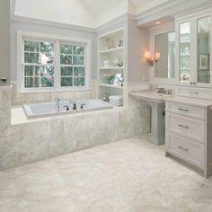 Amercian Olean Carrara Marble Tile Flooring Bedroom Master Showers