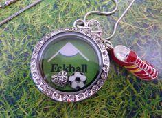 Floating Charms Kette   Halskette Fußball von Beads-for-Beginners auf DaWanda.com