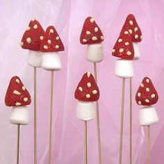 Fairy party idea - Strawberry Mushrooms. Cute Fairy party food