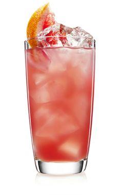 MALIBU Twisted Pink - 1 part  MALIBU,  1 part Cranberry Juice,  1 part Fresh Grapefruit Juice