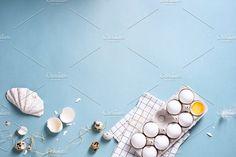 Variety of eggs by Iuliia Leonova on @creativemarket