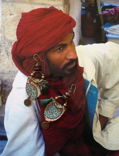 Boucles d'oreille tribal oriental  gypsy  hippie chic par FUJIGIRLS