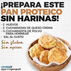 Prepare this bread without flour! By - Pan sin Gluten Recetas Low Carb Recipes, Vegan Recipes, Cooking Recipes, Healthy Cooking, Healthy Snacks, Low Carb Backen, Comida Keto, Sin Gluten, Love Food
