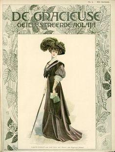 De Gracieuse, March 1908, Edwardian Fashion Plate.
