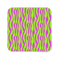 Pink and Green Zebra Print Sticker