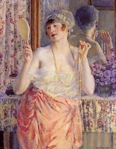 Frederick Carl Frieseke  Woman before a Mirror  c.1912