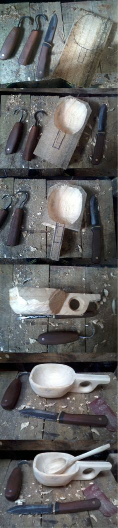 Carving a Kuksa cup, crooked knives                                                                                                                                                                                 More