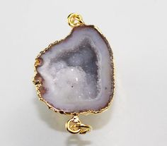 Zj-2380 Best Sale Amazing Geode Druzy 24k gold plated Connector Jewelry #Unbranded #CasualParty