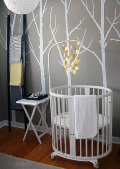 Fresh, Modern Nursery with Clean Lines: I wanted to keep the style in my baby's modern gray and white nursery clean and fresh while keeping true to the form following function rule of good design.