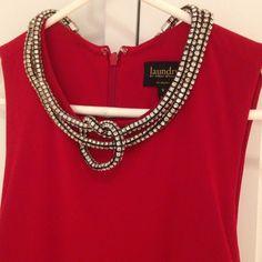 Nwot Long Sleeveless Red Dress