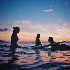 Surf girls... sunset...