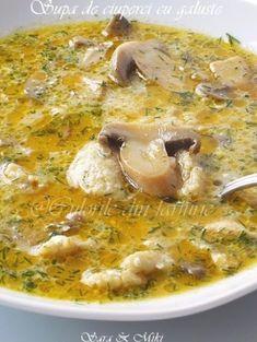 » Supa de ciuperci cu galusteCulorile din Farfurie