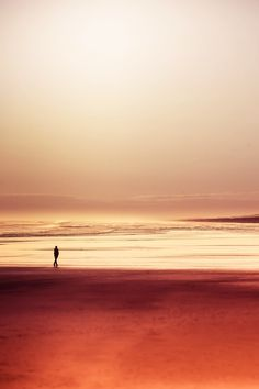 Photography inspiration of a lone person on the beach in gold earth hues Photographie Macro Nature, Amazing Nature Photos, Fotografia Macro, Macro Photography, Belle Photo, Land Scape, Wonders Of The World, Serenity, Beautiful Places