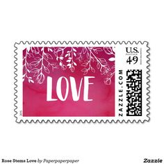 Rose Stems Love Stamps