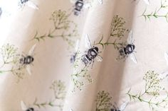 Sold by the metre. Rachel Reynolds, Pattern Matching, Gypsophila, Flora And Fauna, Giclee Print, How To Draw Hands, Bee, Fabrics