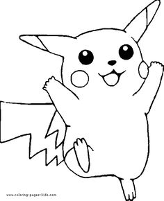 A very happy Pikachu coloring page! Can you color the whole sheet? Color in your favorite Pokemon characters. Pokemon color pages, Pokemon picture to color, free Pokemon coloring pages. Pikachu Coloring Page, Nemo Coloring Pages, Shopkins Colouring Pages, Summer Coloring Pages, Pokemon Coloring Pages, Disney Coloring Pages, Coloring Book Pages, Coloring Pages For Kids, Coloring Stuff
