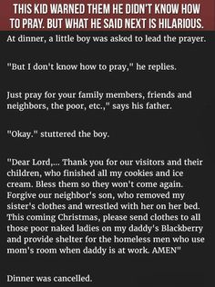 This Kid Warned Them He Did Not Know How To Pray But What He Said Next Is Hilarious  #LOL #Funny #KidsjOkes