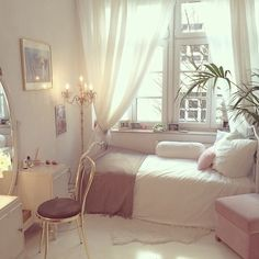 beige, black, colors, flowers, grunge, hipster, indie, inspiration, make up, morning, outfit, pillows, pink, room, style, white