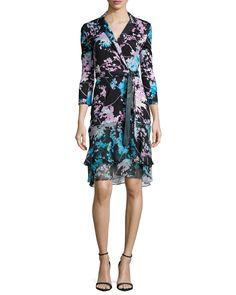 Diane von Furstenberg Cathy Floral Daze Wrap Dress, Women's, Size: 6