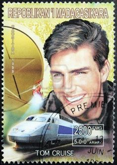 1999 postage-stamp- Madagascar    Tom Cruise
