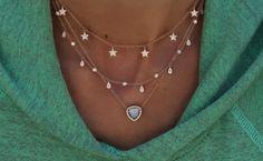 14kt gold mini teardrop diamond drip choker necklace – Luna Skye