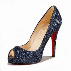 This particular shade of blue rocks my world when it comes to evening wear.  It looks like a clear sky at night.  The nerd in me just sees stars.  Yeah.  Want these too.  :)