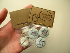DIY packaging....vox sales! Group pins in a series instead of scattering them haphazardly all over the table.