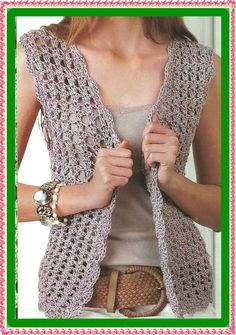 Fabulous Crochet a Little Black Crochet Dress Ideas. Georgeous Crochet a Little Black Crochet Dress Ideas. Crochet Waistcoat, Crochet Jacket, Crochet Cardigan, Crochet Shawl, Mode Crochet, Diy Crochet, Crochet Top, Crochet Bodycon Dresses, Black Crochet Dress