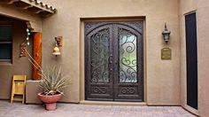 Tuscan House With Ornate Security Door : Exterior Security Doors For Houses Home Security Tips, Home Security Systems, Security Screen, Security Doors, Aluminium Front Door, House Front Door, Front Doors, Door Picture, Wrought Iron Decor