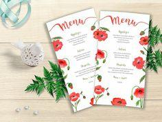 Watercolor Wedding Menu Printable Wedding Menu Floral Wedding Menu, Floral Wedding, Wedding Flowers, Wedding Ideas, Printable Menu, Printables, Watercolor Wedding, Watercolor Flowers, Wedding Stationery