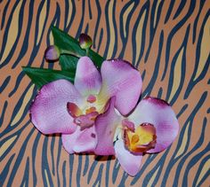 Tropical Pink Orchid Glitter Tiki Pinup Hair by BombshellKouture, $7.50