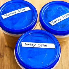 How to Make Turkey Stock; this is one of my favorite things about the weekend after Thanksgiving, or any holiday where there's a turkey carcass to turn in to delicious stock. [from KalynsKitchen.com] #TurkeyStockMakesGreatSoup