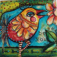 My Art Journal: My Online Class With Jodi Ohl--Dirty Flirty Birds....and...More About My September Workshop