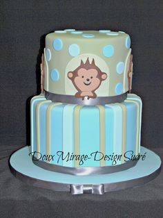 Gâteau de baptême garçon  Boys christening cake