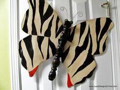 Lucy Designs: Dragonflies - Zebra and Leopard