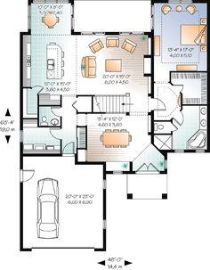 First Floor Plan of Florida   House Plan 76128