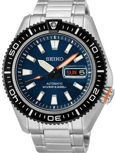Seiko Stargate II Automatic Dive Watch with Blue Dial and Stainless Steel Bracelet #SRP493K1