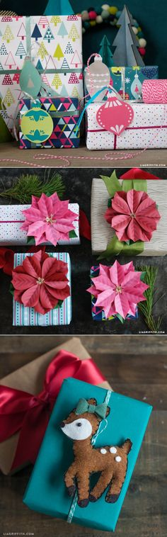 Our Best DIY Gift Toppers by www.LiaGriffith.com #gifttoppers #toppers #giftwrapping #presents #christmaswrap #christmasgifts #giftwrap #diychristmas #giftwrappingideas