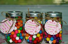 Thank You Gifts | gum balls type out this cute saying thanks for chewsing to teach i had ...
